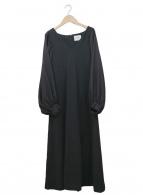 Ameri VINTAGE(アメリヴィンテージ)の古着「キャノピースリーブドレス」|ブラック