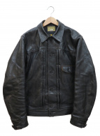 Joe McCOY(ジョーマッコイ)の古着「ホースハイドレザージャケット」|ブラック