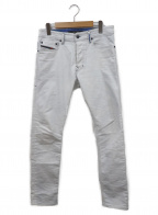 DIESEL()の古着「デニムパンツ」|ホワイト