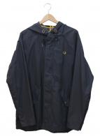 FRED PERRY(フレッドペリー)の古着「クロップドパーカー」|ネイビー