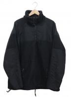 NO BLAND(ノーブランド)の古着「[古着]ミリタリーフリースジャケット」 ブラック