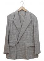 Mila Owen(ミラオーウェン)の古着「ピーグラペルビッグジャケット」|グレー