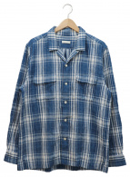 niuhans(ニュアンス)の古着「オープンカラーチェックシャツ」|ブルー