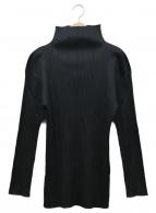 PLEATS PLEASE(プリーツプリーズ)の古着「ハイネックプリーツカットソー」|ブラック
