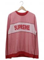 Supreme(シュプリーム)の古着「ロゴ刺繍クルーネックカットソー」|レッド×ホワイト