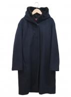 DES PRES(デプレ)の古着「ウールビーバーフーデッドコート」|ネイビー