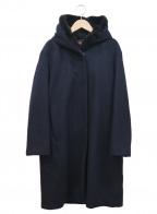 DES PRES()の古着「ウールビーバーフーデッドコート」|ネイビー