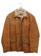 SCHOTT BROS.(ショットブロス)の古着「ヴィンテージスウェードジャケット」 ブラウン×アイボリー
