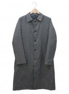 LARDINI(ラルディーニ)の古着「カシミヤリバーシブルコート」 グレー