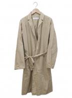 GALERIE VIE(ギャルリーヴィー)の古着「コットンタイプライターベルテッドコート」|ベージュ