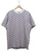 Supreme(シュプリーム)の古着「ロゴジャガードTシャツ」|パープル×ホワイト