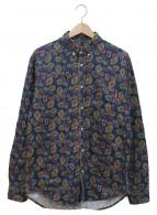 Supreme(シュプリーム)の古着「ペイズリーBDシャツ」|ネイビー×グリーン