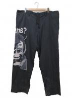 BLACK SCANDAL Yohji Yamamoto(ブラックスキャンダル ヨウジヤマモト)の古着「TU VIENS Tencel Wide Pants」|ブラック