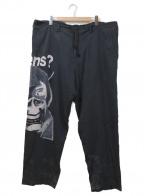 BLACK SCANDAL Yohji Yamamoto(ブラックスキャンダル ヨウジヤマモト)の古着「TU VIENS Tencel Wide Pants」 ブラック
