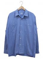COMOLI(コモリ)の古着「コットンネルオープンカラールーズシャツ」|サックスブルー