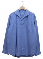 COMOLI(コモリ)の古着「コットンネルスキッパールーズシャツ」|サックスブルー