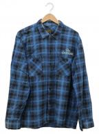 TENDERLOIN(テンダーロイン)の古着「チェックシャツ」|ネイビー×ブラック