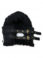 sacai(サカイ)の古着「ベルテッドニットフード」|ブラック