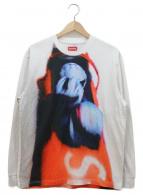 Supreme(シュプリーム)の古着「プリントカットソー」 ホワイト×レッド