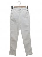 GUCCI(グッチ)の古着「裾リボンストレッチスキニーパンツ」|ホワイト