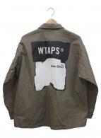 WTAPS(ダブルタップス)の古着「バックプリントビッグワークシャツ」 グレー×ホワイト