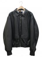 rin(リン)の古着「Captain BOM Leather Jacket」|ブラック