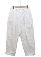 rin(リン)の古着「タックテーパードパンツ」|ホワイト