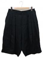 rin(リン)の古着「タックハーフパンツ」|ブラック