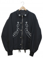rin(リン)の古着「Chrysanthemum Nylon Blouson」|ブラック
