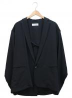 rin(リン)の古着「Stripe Over Jacket」|ブラック