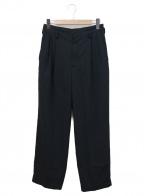 rin(リン)の古着「タックテーパードパンツ」|ブラック