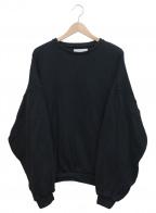rin(リン)の古着「ドロップショルダークルーネックニット」|ブラック