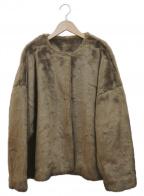UNGRID(アングリッド)の古着「フェイクファーブルゾン」|ブラウン