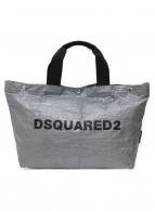 DSQUARED2(ディースクエアード)の古着「ミニトートバッグ」 シルバー×ブラック