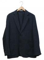 AURALEE()の古着「リネンシルクルーズテーラードジャケット」|ネイビー