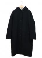 ()の古着「オーバーフードコート」 ブラック