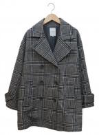 ROSE BUD(ローズバッド)の古着「オーバーサイジングPコート」 グレー×ブラック