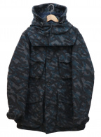 Paul Smith JEANS(ポールスミス ジーンズ)の古着「TAPE PRINT MILITARY COAT」|グレー×ネイビー