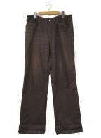 TENDERLOIN(テンダーロイン)の古着「ヘビーコットンビッグワークパンツ」|ブラウン