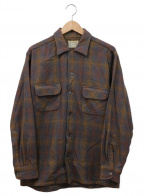 TOWN CRAFT(タウンクラフト)の古着「古着ウールチェックシャツ」 グレー×ブラウン