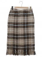 khaju(カージュ)の古着「別注フリンジスカート」|ブラウン