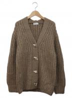 FRAY ID(フレイアイディー)の古着「デザインボタンロービングカーディガン」|ブラウン