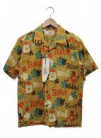 Sun Surf(サンサーフ)の古着「シアサッカーアロハシャツ」|マスタード