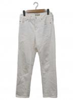 YANUK(ヤヌーク)の古着「SPILLPROOF加工テーパードデニムパンツ」 アイボリー