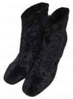 ()の古着「ベロアタッチショートブーツ」|ブラック