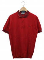 FRED PERRY(フレッドペリー)の古着「ニットポロシャツ」|レッド