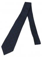 GUCCI(グッチ)の古着「総柄シルクネクタイ」|ブラック×ブルー