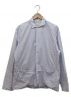STUDIO NICHOLSON()の古着「フロントポケットシャツ」|パープル