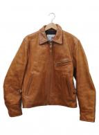 BOOBY(ブービー)の古着「シングルライダースジャケット」|ブラウン