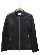 STUDIOUS(ステュディオス)の古着「シングルレザーライダースジャケット」|ブラック